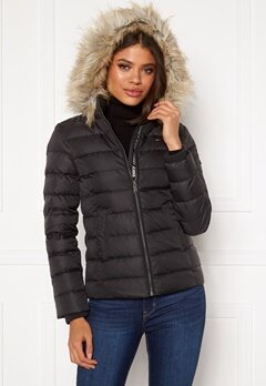 TOMMY JEANS Essential Down Jacket 078 Tommy Black Bubbleroom.fi