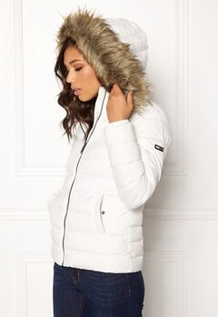 TOMMY JEANS Essential Down Jacket 116 Snow White Bubbleroom.fi