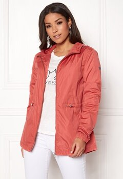 TOMMY JEANS Essential Jacket 689 Spiced Coral Bubbleroom.fi