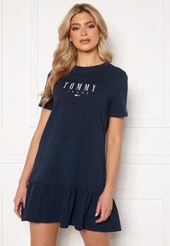 TOMMY JEANS Logo Peplum Dress Bubbleroom.fi