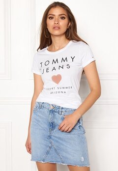 TOMMY JEANS Logo Tee 113 Bright White Bubbleroom.fi