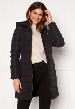 TOMMY JEANS Quilted Down Coat BDS Black Bubbleroom.fi
