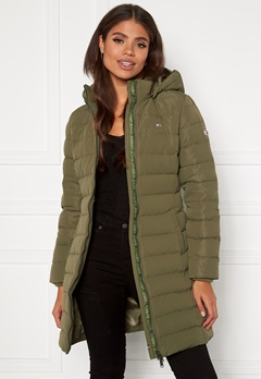 TOMMY JEANS Quilted Down Coat MSQ Olive Tree Bubbleroom.fi