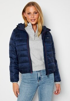 TOMMY JEANS Quilted Hooded Jacket C87 Twilight Navy bubbleroom.fi