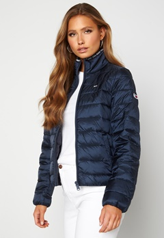 TOMMY JEANS Quilted ZipThrough Twilight Navy Bubbleroom.fi