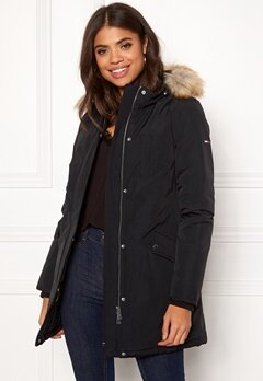 TOMMY JEANS Technical Down Jacket Tommy Black Bubbleroom.fi