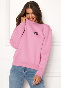 TOMMY JEANS Tommy Badge Crew 579 Lilac Chiffon Bubbleroom.fi