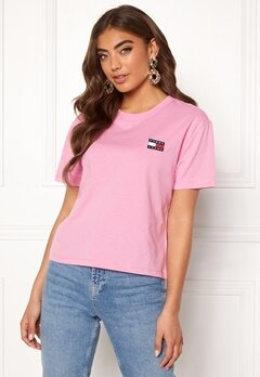 TOMMY JEANS Tommy Badge Tee 579 Lilac Chiffon Bubbleroom.fi