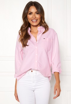 TOMMY JEANS Tommy Classics Shirt 612 Oxford Pink Bubbleroom.fi