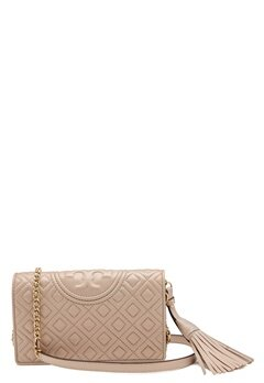 TORY BURCH Fleming Wallet Cross-Body Light Taupe Bubbleroom.fi