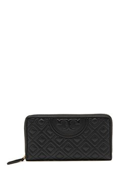 TORY BURCH Fleming Zip Wallet Black Bubbleroom.fi