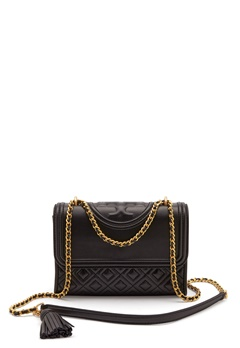 TORY BURCH Flemming Quilted Leather 001 Black Bubbleroom.fi
