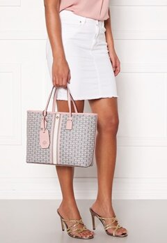 TORY BURCH Gemini Link Canvas Tote Coastal Pink Bubbleroom.fi