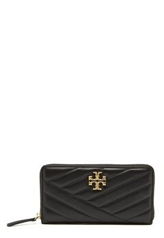 TORY BURCH Kira Chevron Zip Wallet Black Bubbleroom.fi