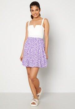 Trendyol Flower Flounce Skirt Lila Bubbleroom.fi