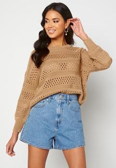 Trendyol Knitted Sweater Camel Bubbleroom.fi