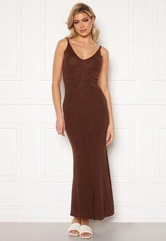 Trendyol Lisa Maxi Dress Kahverengi/Brown Bubbleroom.fi