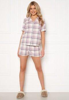 Trendyol Shirt Short Pyjama Set Pudra/Powder Pink Bubbleroom.fi