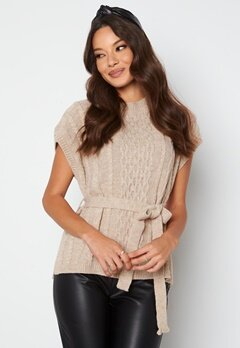 Trendyol S/S Knitted Sweater Stone bubbleroom.fi