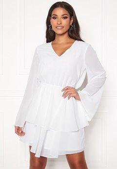 Rut & Circle Tuva Frill Dress White Bubbleroom.fi