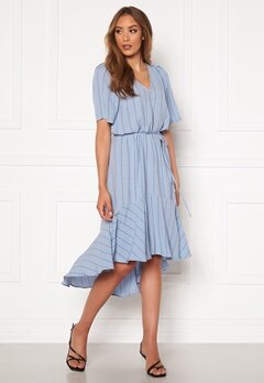 Twist & Tango Alexa Dress Dusty Blue Logo Bubbleroom.fi