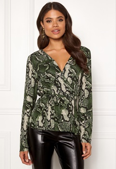 Twist & Tango Isabel Blouse Green Snake Bubbleroom.fi