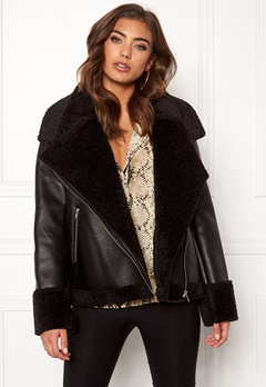 Twist & Tango Jemina Shearling Jacket Black Bubbleroom.fi
