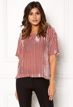 Twist & Tango Meg Velvet Tee Dusty Rose Bubbleroom.fi