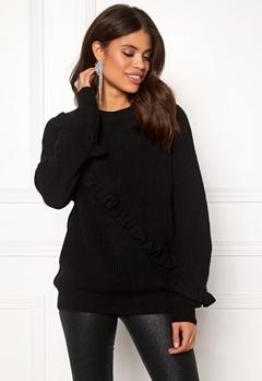 Twist & Tango Sonja Frill Sweater Black Bubbleroom.fi