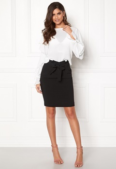 ICHI Udele Skirt Black Bubbleroom.fi