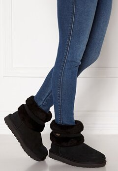 UGG Australia Fluff Mini Belted Boots Black Bubbleroom.fi