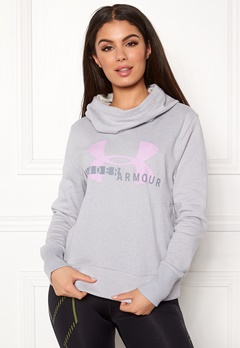 Under Armour Cotton Sports Logo Hoodie 013 Stealth Gray Bubbleroom.fi