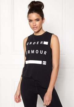 Under Armour Muscle Tank Linear Word Black Bubbleroom.fi