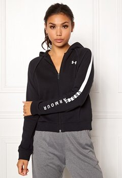 Under Armour Rival Fleece FZ Hoodie Black Bubbleroom.fi