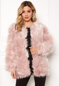 Urban Mist Diamond Panelled Fur Dusty Pink Bubbleroom.fi