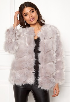 Urban Mist Diamond Panelled Fur Light Grey Bubbleroom.fi