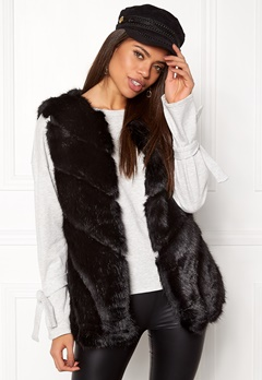 Urban Mist Faux Fur Panel Swing Black Bubbleroom.fi