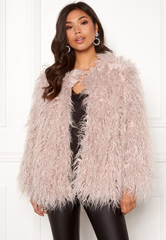 Urban Mist Mongolian Faux Fur Coat Light Pink Bubbleroom.fi