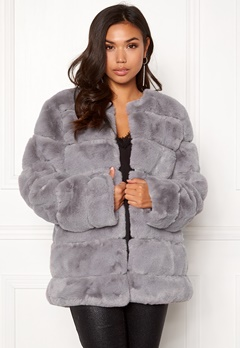 Urban Mist Plush Panelled Faux Fur Grey Bubbleroom.fi
