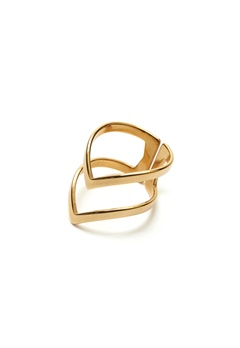 WOS Vanessa Ring Gold Bubbleroom.fi