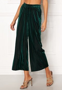 co'couture Velvet Groove Cropped Pant 34 Green Bubbleroom.fi