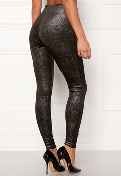 Spanx Velvet Leggings Black/Gold Bubbleroom.fi