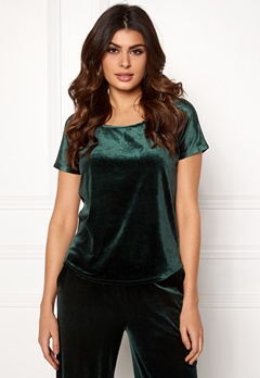 ICHI Velvet SS Top Green Gables Bubbleroom.fi