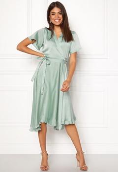VERO MODA Alanna Wrap Dress Jadeite Bubbleroom.fi