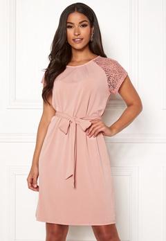VERO MODA Alberta S/S Lace Dress Misty Rose Bubbleroom.fi