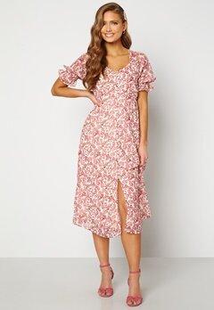 VERO MODA Anneline 2/4 V-Neck Dress Birch AOP: New Annel Bubbleroom.fi
