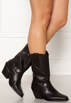VERO MODA Asa Leather Boot Black Bubbleroom.fi