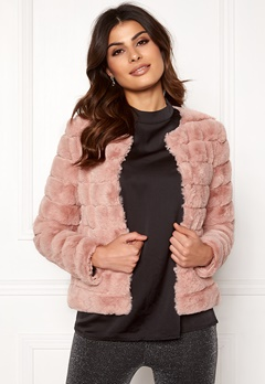 VERO MODA Avenue Faux Fur Short Misty Rose Bubbleroom.fi