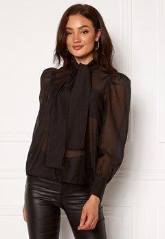 VERO MODA Briana L/S Shirt Black Bubbleroom.fi