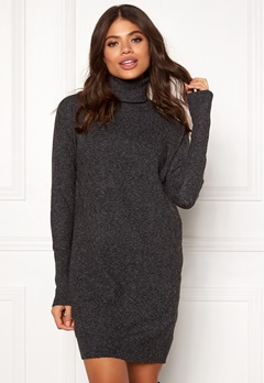VERO MODA Brilliant LS Rollneck Dress Black Bubbleroom.fi